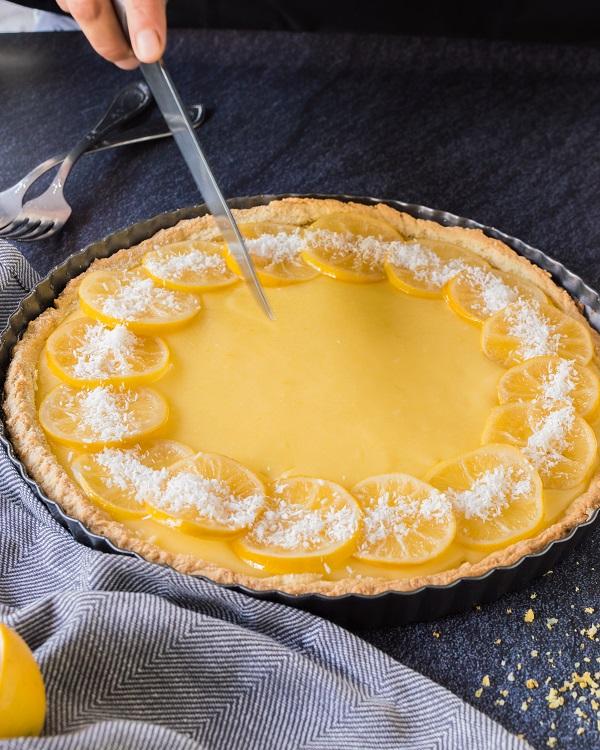 Candied Lemon Tart