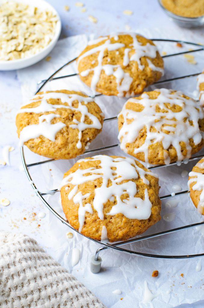 Applesauce cookies with glaze